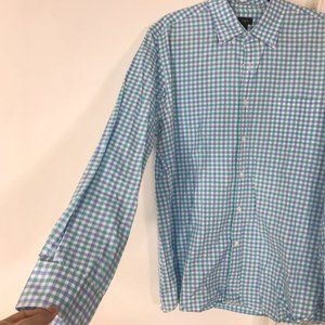 J Crew Mens Secret Wash Gingham Check Button Shirt